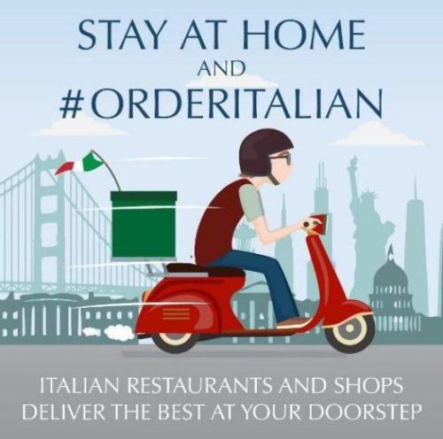 StayAtHome and orderItalian la campagna lanciata dall'Ambasciata d'Italia a Washington DC per sostenere i ristoranti italiani e la salute della popolazione in lockdown per il coronavirus