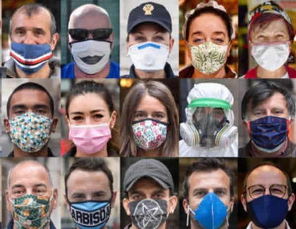 Ad ognuno la sua. 100 volti 100 mascherine, reporter Ansa Luca Zennero