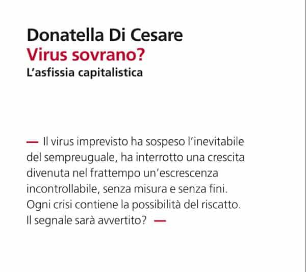Virus Sovrano? Donatella Di Cesare