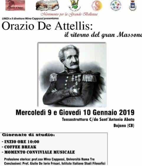 Orazio De Attellis, il ritorno del gran massone americano a Bojano. Una due giorni di spunti culturali