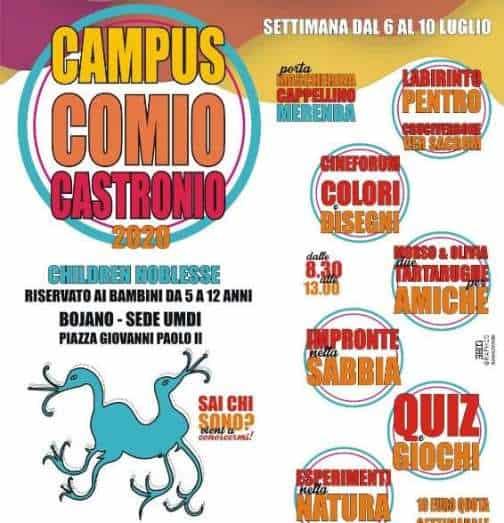 Comio Castronio, campus sannita. Molise Noblesse e Filitalia parlano osco ai bambini