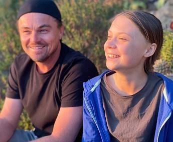 Greta-Thunberg-e-Leonardo-Di-Caprio