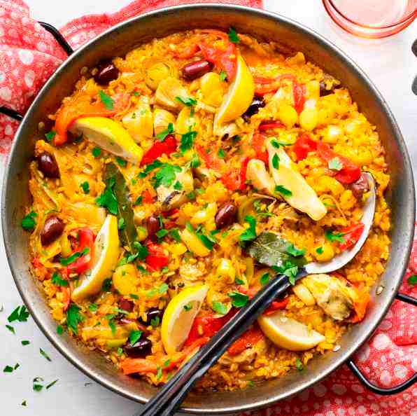 paella vegana verdure zafferano spagnola ricetta