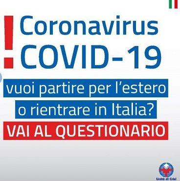 Come tornare in Italia se si è all'estero. Qui il questionario online Covid della Farnesina