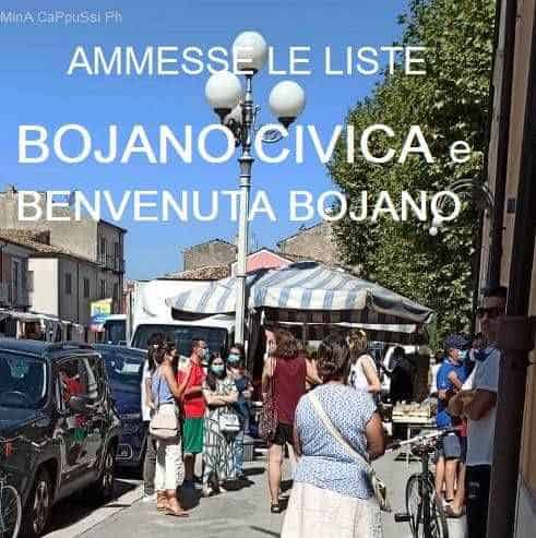 Elezioni comunali Bojano 2020, ammesse le due liste e tutti i candidati. BOJANO CIVICA e BENVENUTA BOJANO. 24 cittadini, 16 uomini e 8 donne, due soli giovani, 10 ex amministratori.