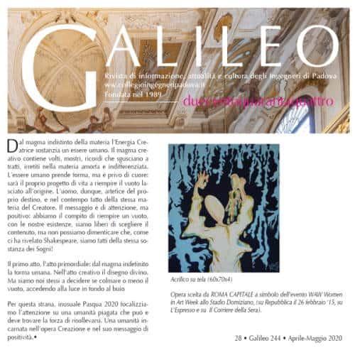 Mina Cappussi su Galileo con Creazione