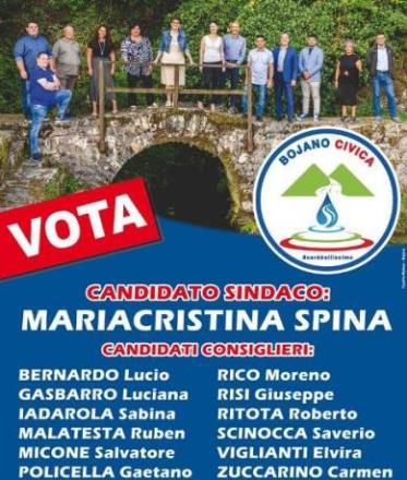 Bojano Civica Comunali 2020, la lista che porta un sindaco donna, programmi e progetti