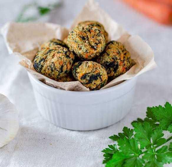 Polpette vegane di carote patate e spinaci