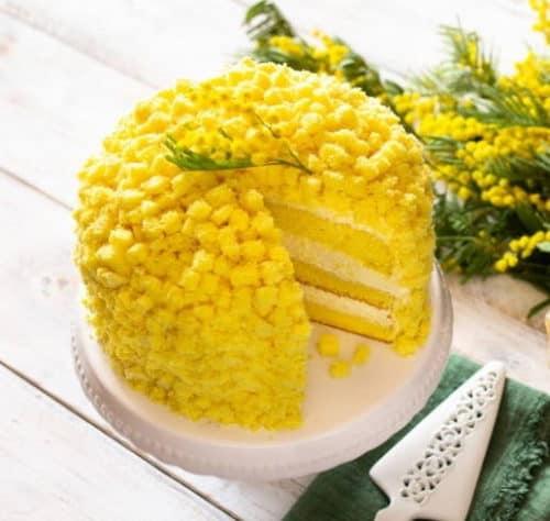 Ricetta torta mimosa vegana