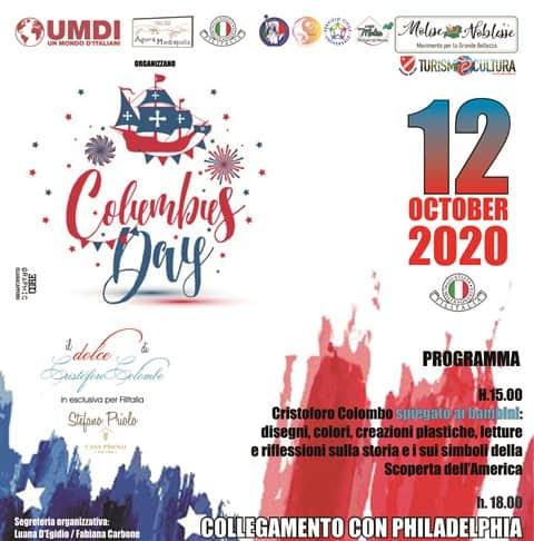 Columbus Day Bojano Philadelphia, by Molise Noblesse e Filitalia International. In esclusiva Columbus Cake di Stefano Priolo