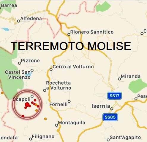 Terremoto Scapoli numerose scosse. In provincia di Isernia la terra del Molise trema da mesi