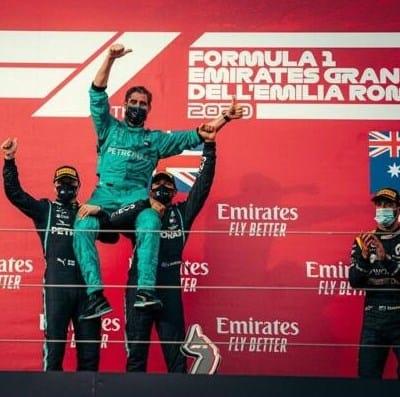 Imola Mercedes sette bellezze. Ferrari in ripresa con Leclerc