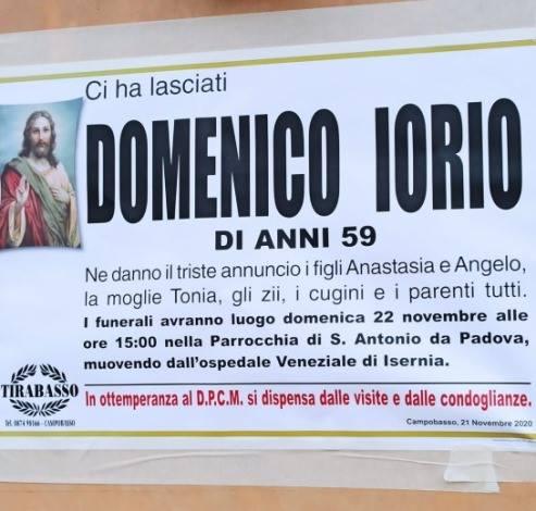Muore Domenico Iorio, 59 anni, titolare della gioielleria Il Diadema di Bojano