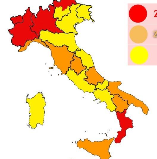 Altre 5 regioni arancione in Italia. Covid sempre più ingestibile