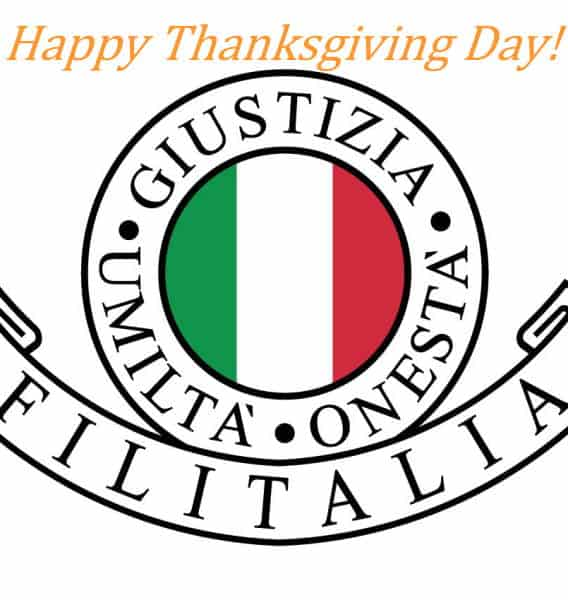 Happy Thanksgiving Day Filitalia