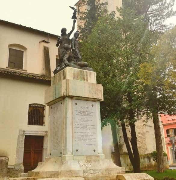 Pace e Giustizia, monumento dei caduti a Bojano