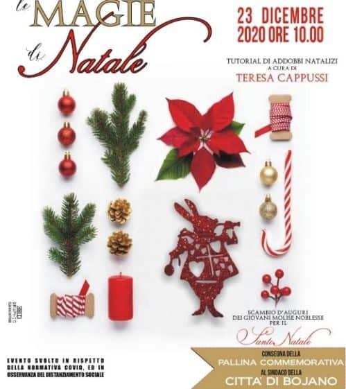 Magie di Natale Bojano, corso di decorazioni natalizie e consegna al Sindaco della pallina 2020