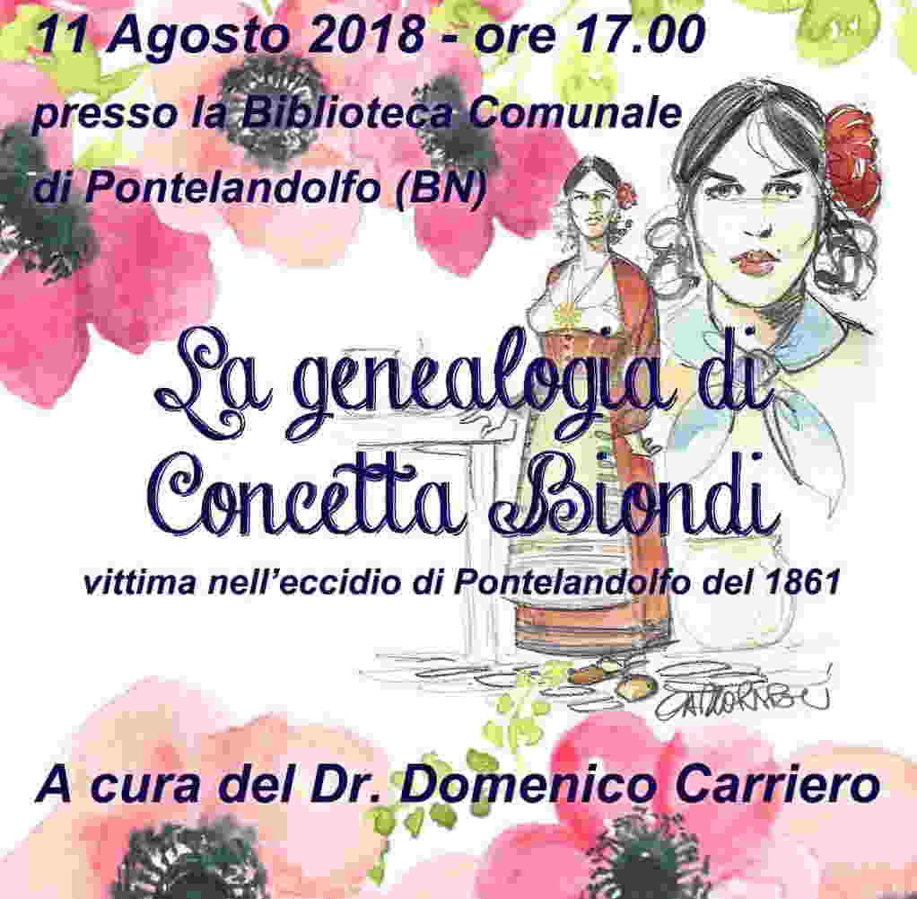 Genealogia di Concetta Biondi. A Pontelandolfo la storia di un martirio