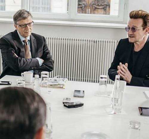Bill Gates e Bono degli U2