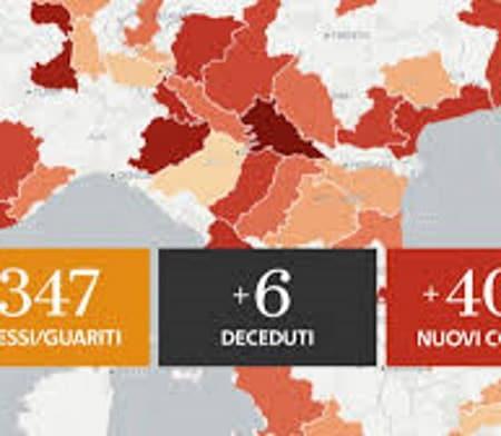 Covid Italia contagi aggiornati regione per regione
