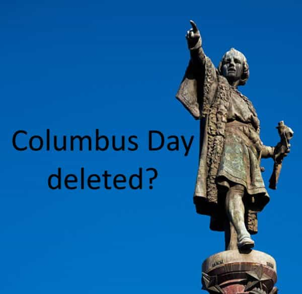 Columbus Day deleted