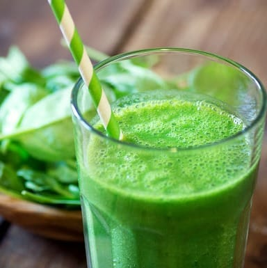Frullato verde della salute