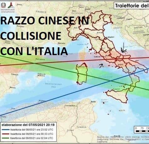 Cade razzo cinese sull'Italia: stato di allerta anche in Molise. Cittadini invitati a stare in casa