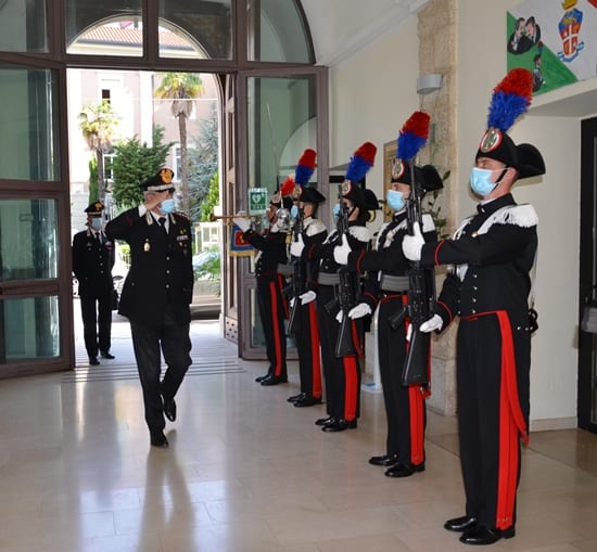 Generale Carabinieri Mezzavilla a Campobasso