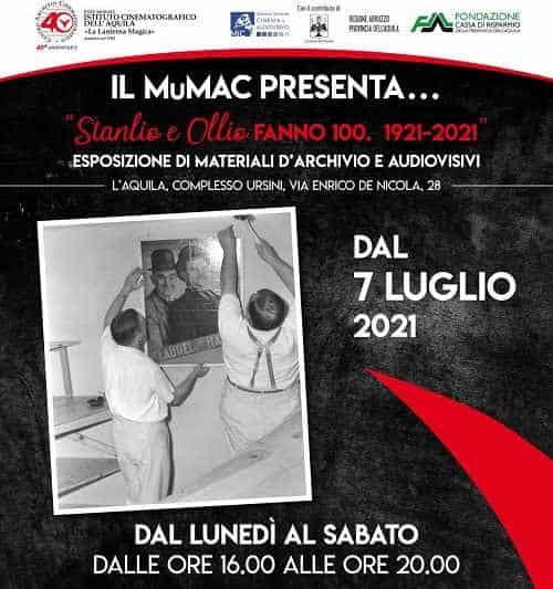 Stanlio e Ollio 100 anni. Dal 1921 al 2021 il MuMAC a L'Aquila