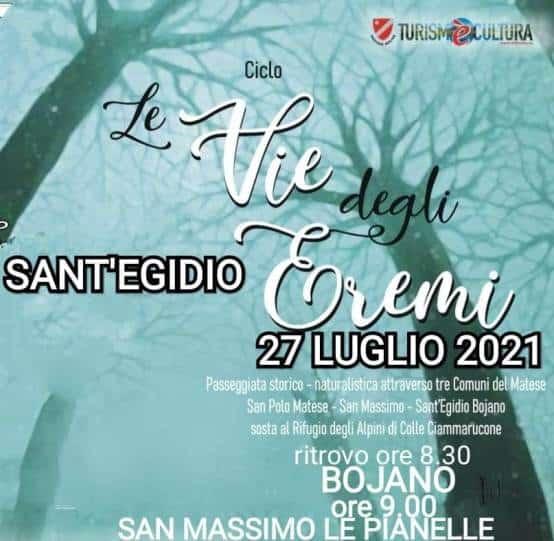 Via degli Eremi a Sant'Egidio: appuntamento Molise Noblesse per riscoprire il territorio
