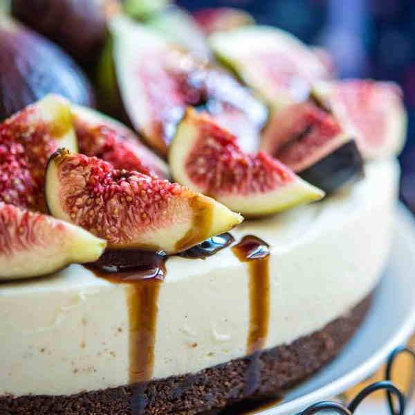 Cheesecake fichi aceto balsamico