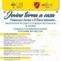 Jovine torna a casa, il primo ottobre presentazione del Parco Letterario e del Paesaggio all'ex Gil
