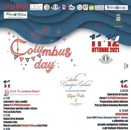 Columbus Day Philadelphia Bojano Vinchiaturo di Filitalia, Molise Noblesse, IPSEOA
